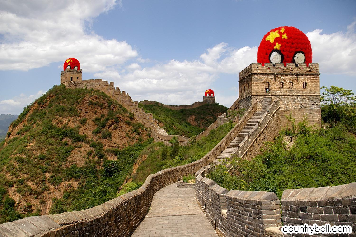 Chinaball guarding the Great Wall of China