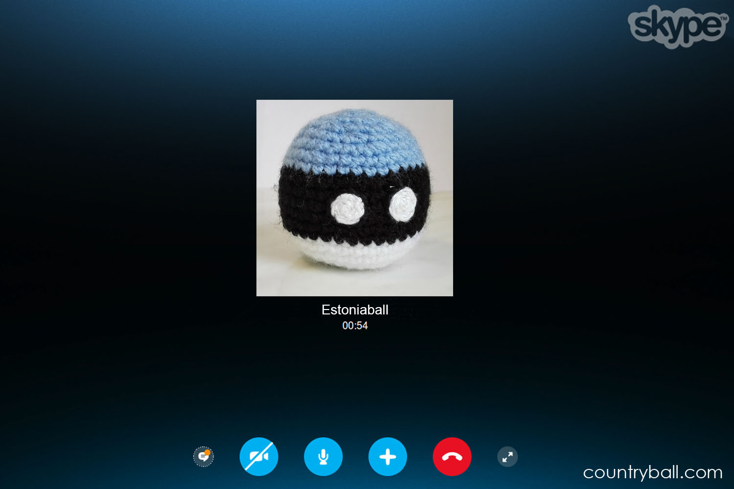 Estoniaball having a Conversation on Skype