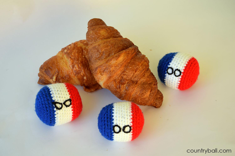 Franceball's breakfast: a Croissant