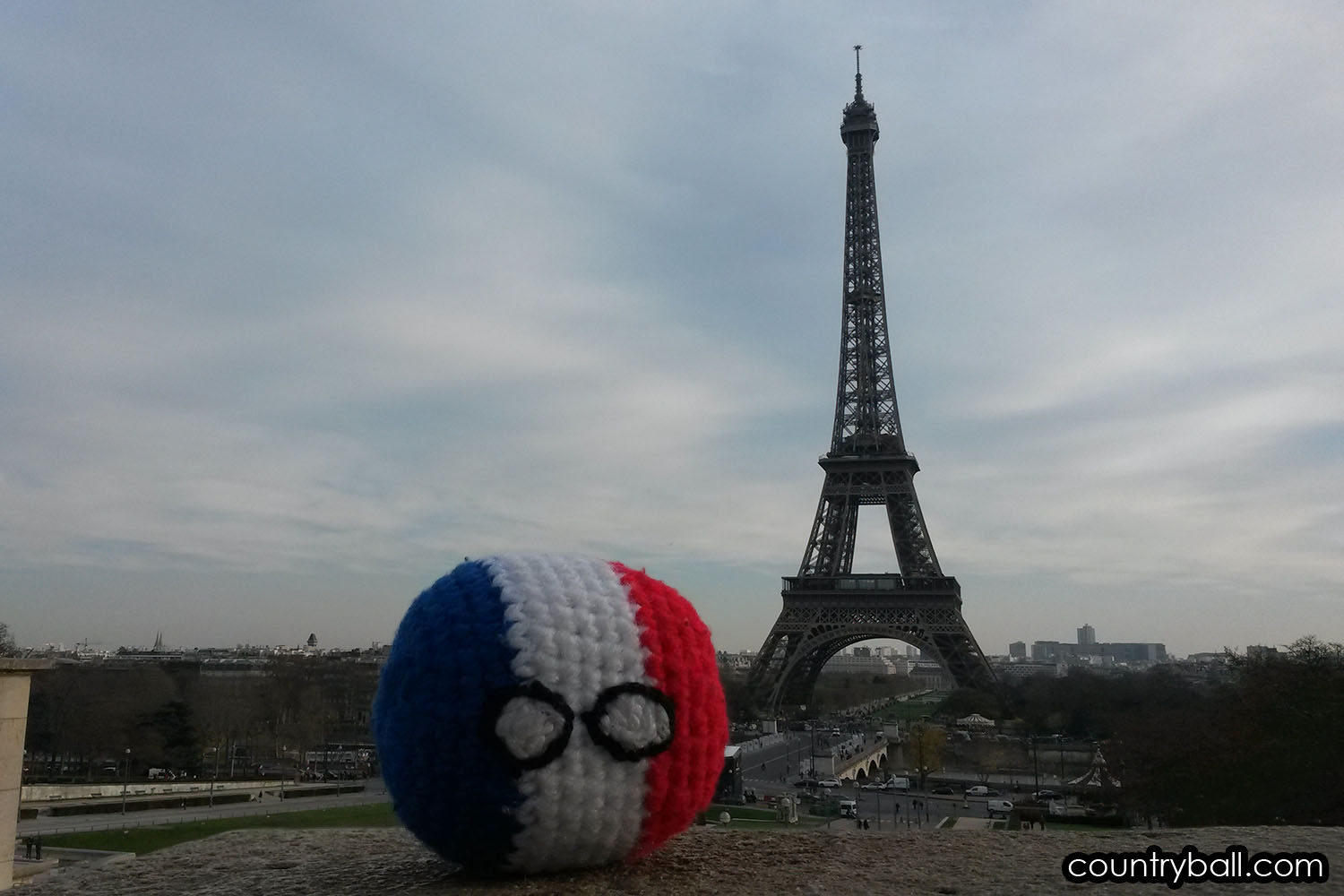 Franceball at the Eiffel Tower