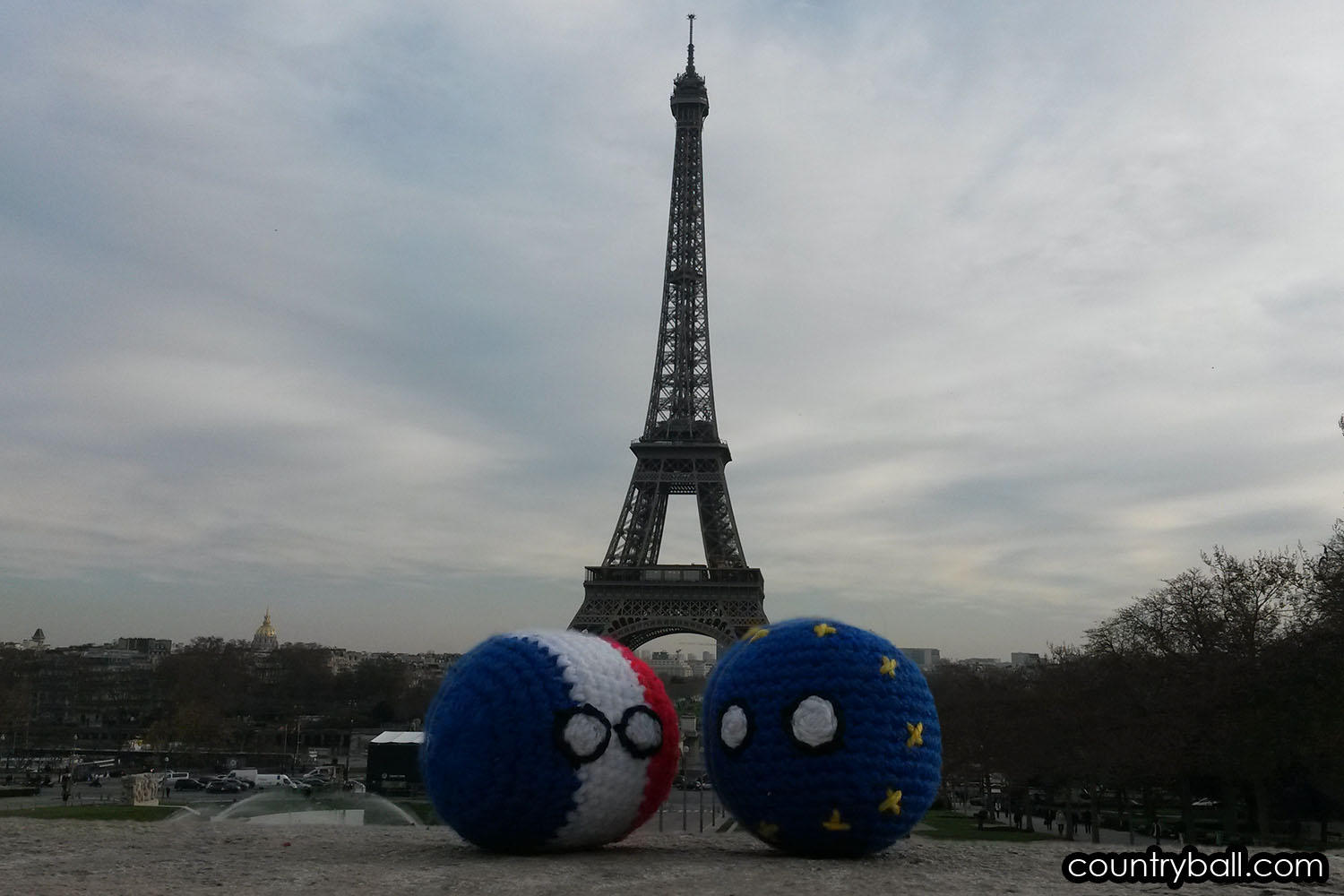Franceball with his friend, EUBall in Paris