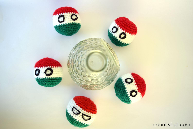 Hungaryball drinking some Palinka