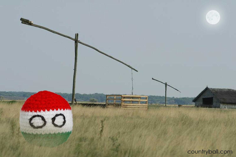 Hungaryball on the Puszta
