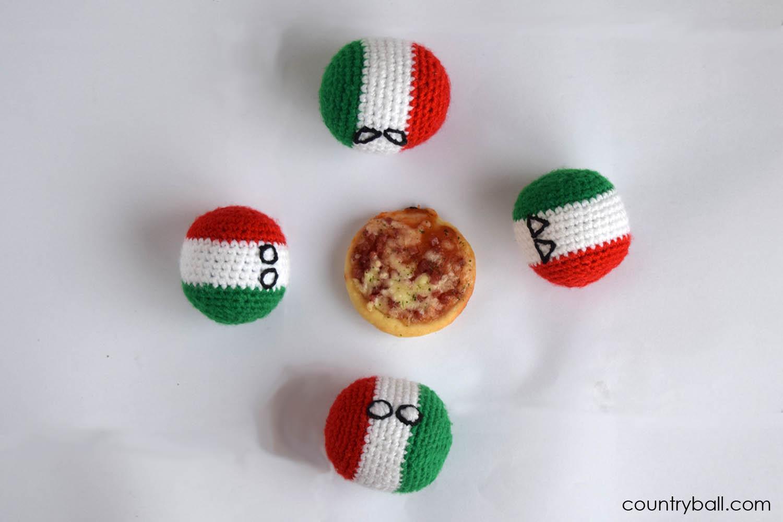 Italyball Likes to Share his Pizza