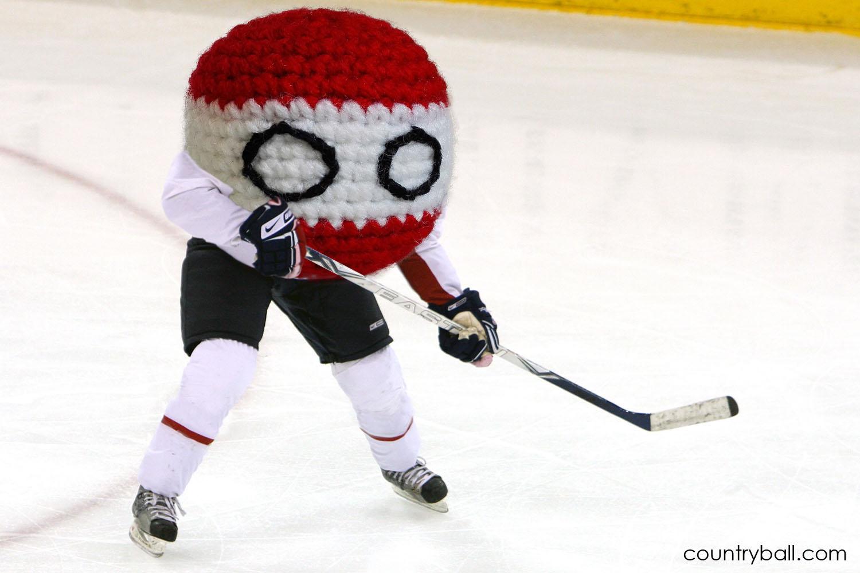 Latviaball playing Hockey