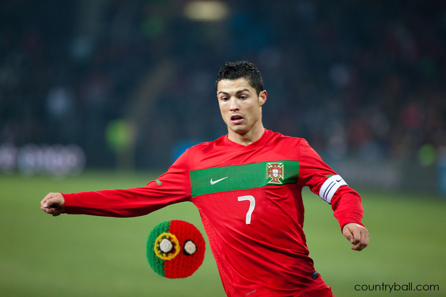 Cristiano Ronaldo playing with his Portugalball