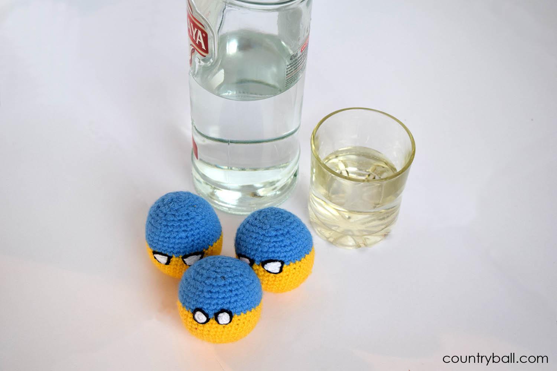 Ukraineball Likes Vodka
