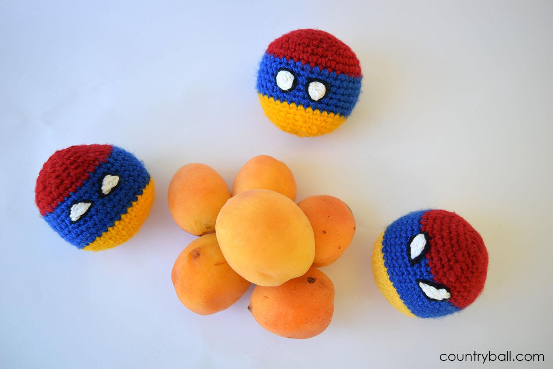 Armeniaballs enjoying Apricots