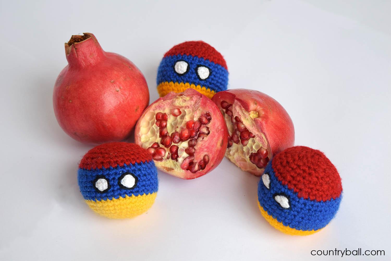 Armeniaball Eating Pomegranate