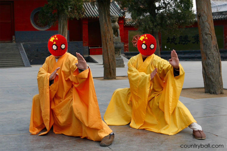 Chinaball practicing Kung Fu