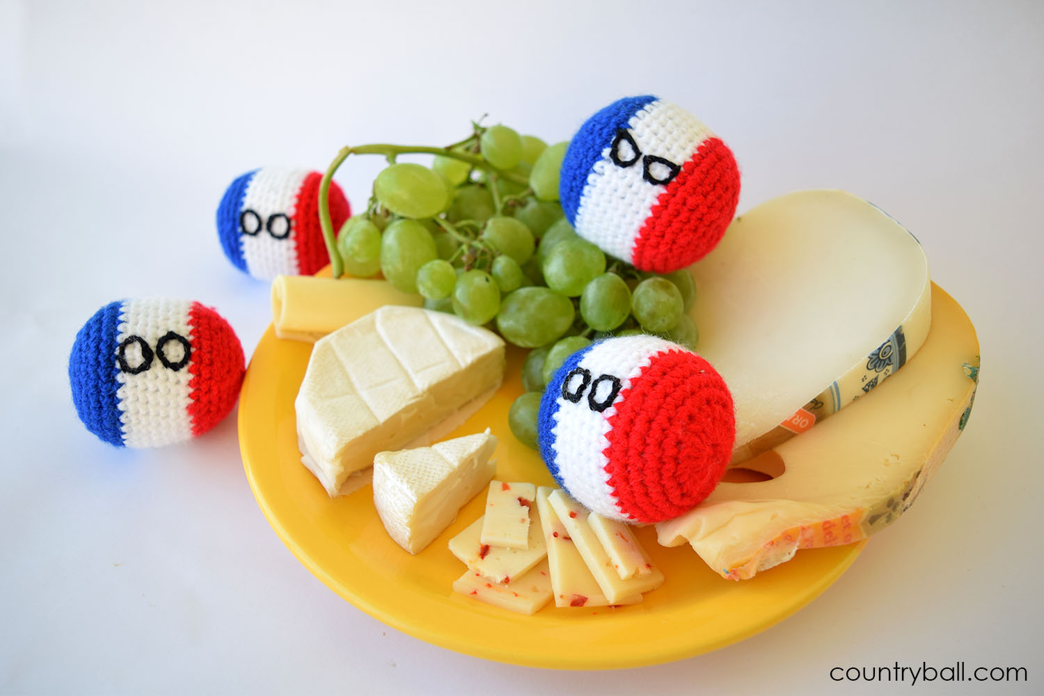 Franceball with some Cheese Varieties