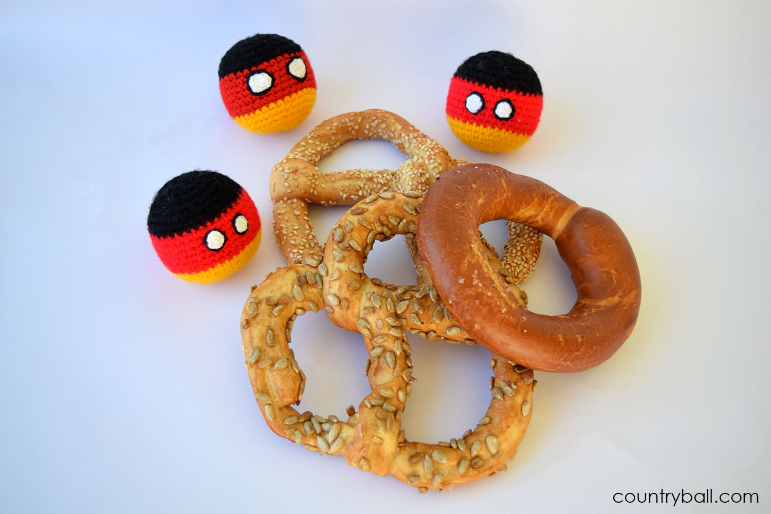 Germanyballs with some Pretzels