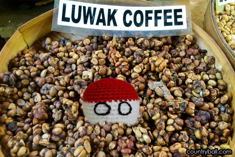 Indonesiaball loves Kopi Luwak