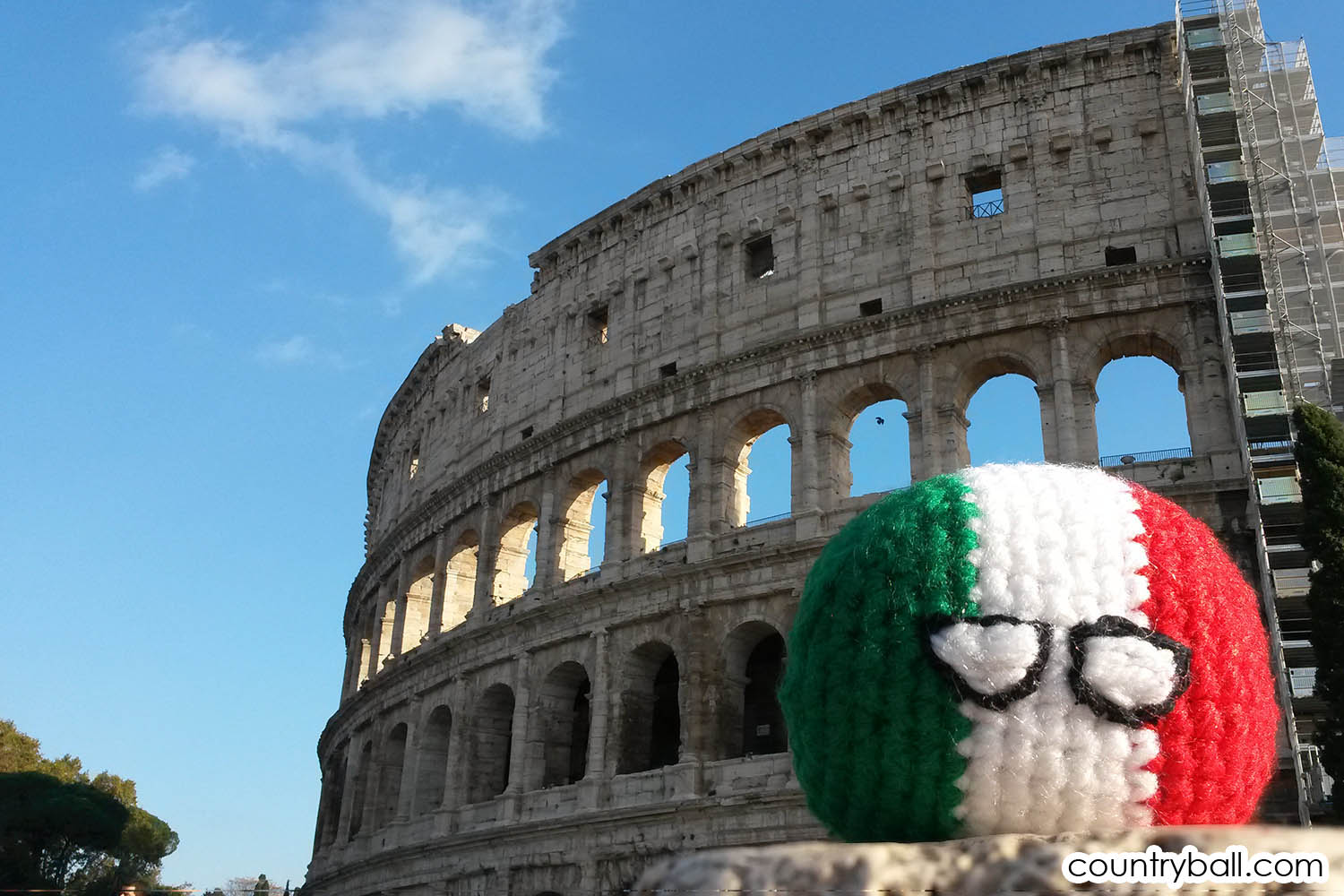 Italyball at the Colosseum