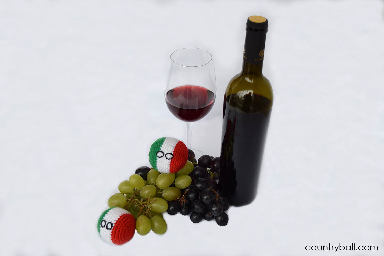 Italyball Enjoying Wine