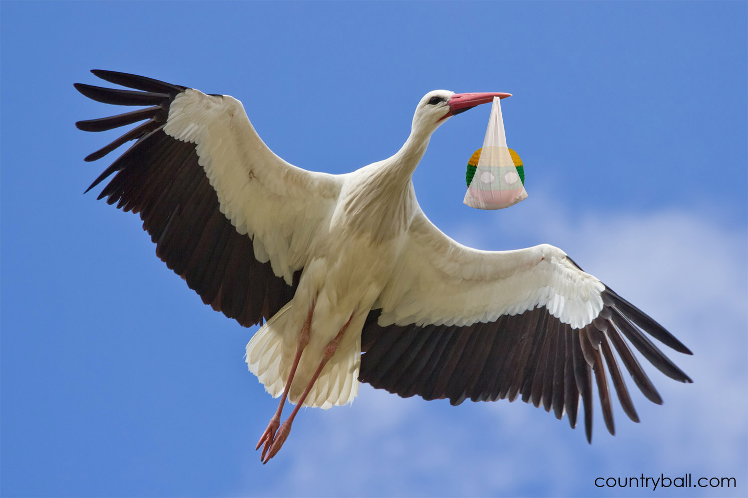 A Stork Bringing a New Lithuaniaball