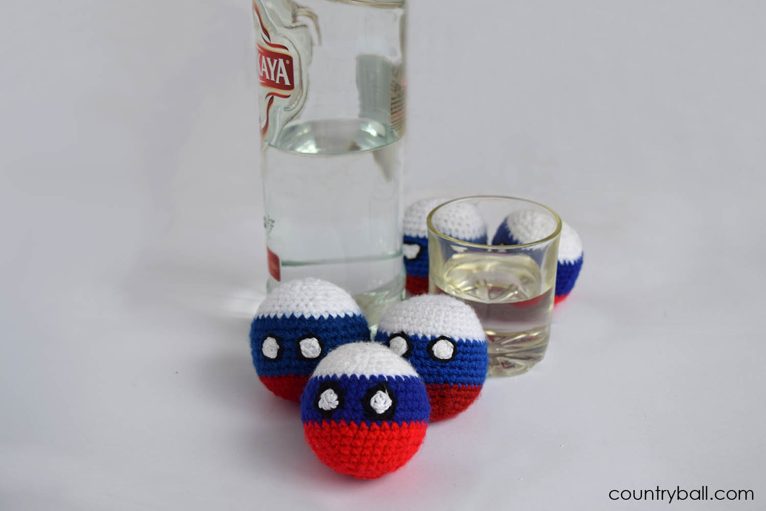 Russiaball and His Famous Vodka