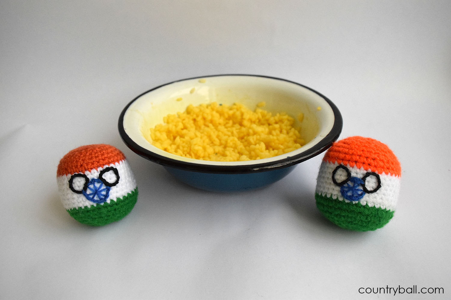 Indiaball enjoying some Rice with Curry