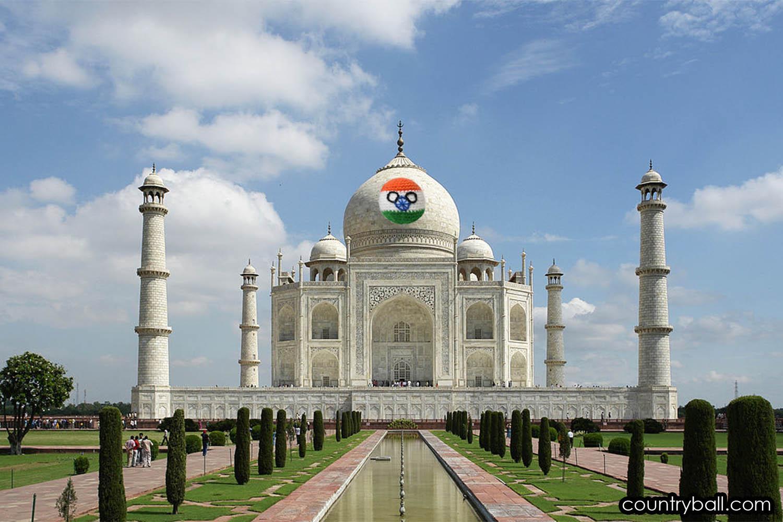 Indiaball, the symbol of Taj Mahal