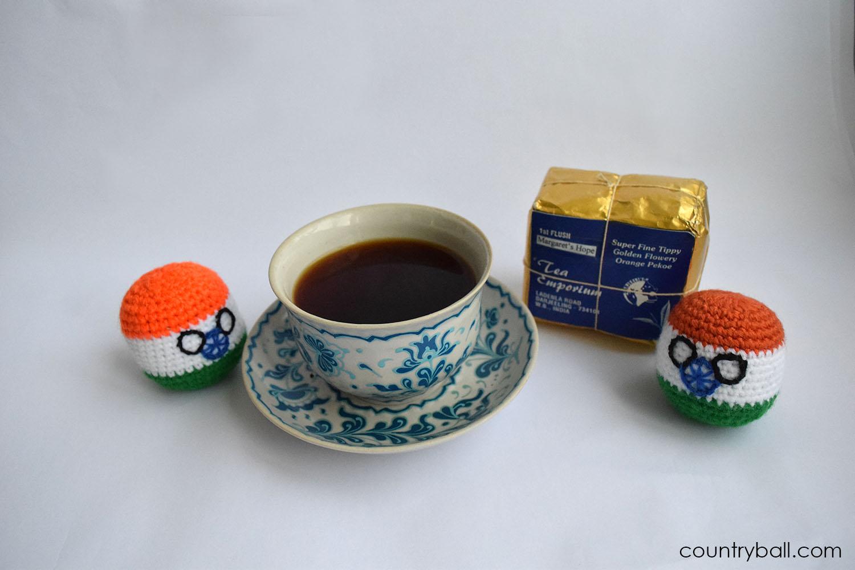 Indiaball with an amazing Tea from Darjeeling