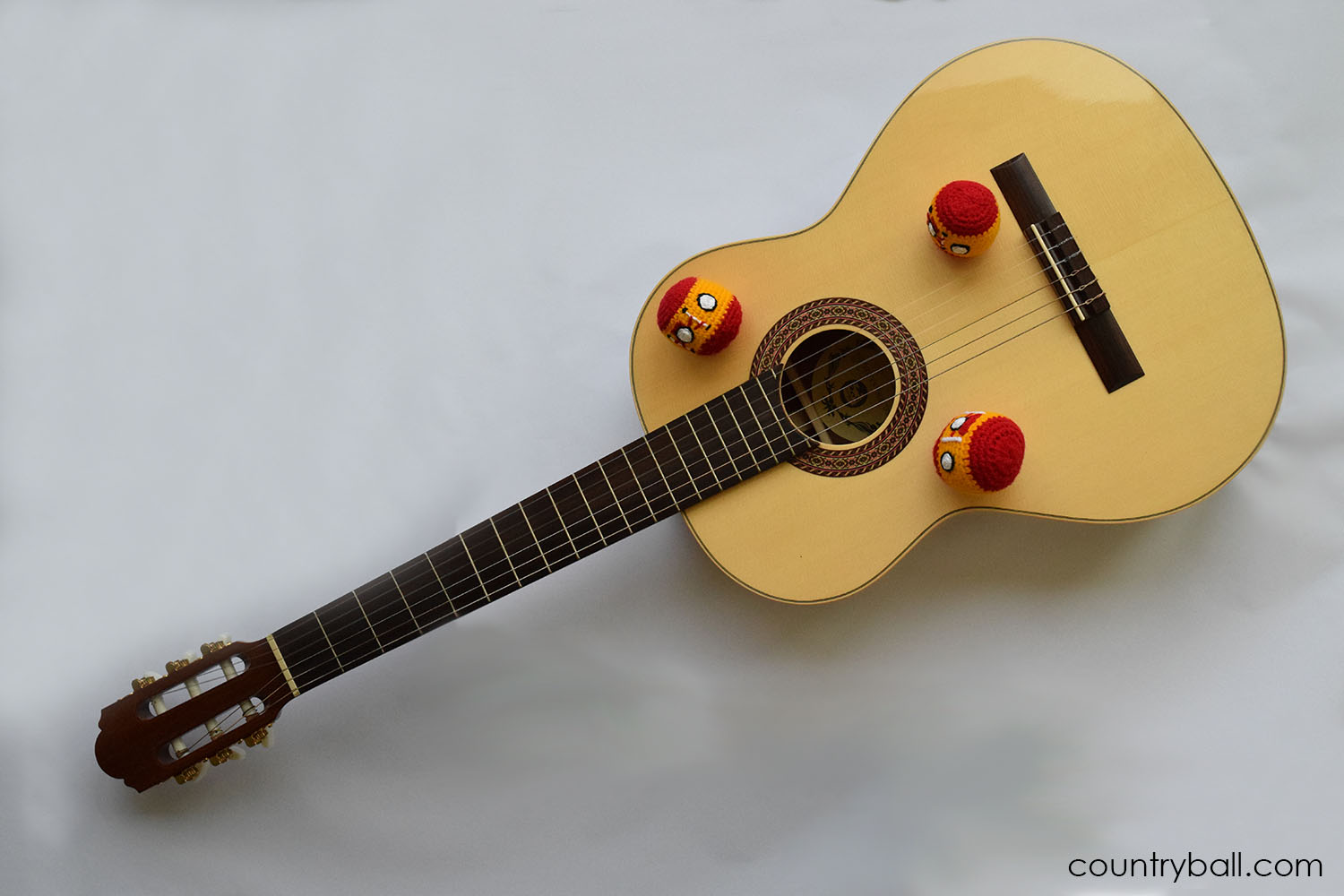 Spainball playing the Guitar